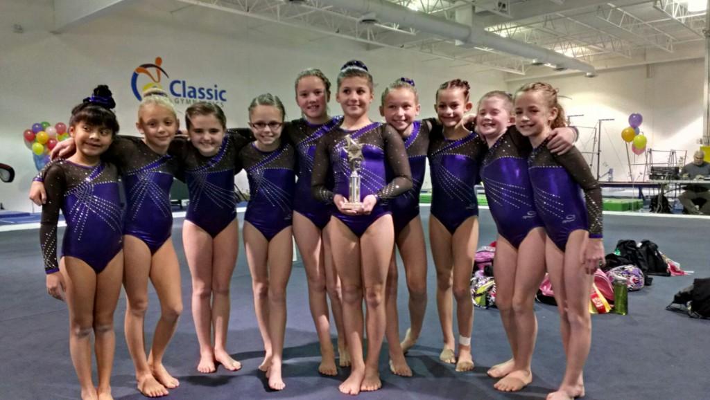 Great Northern Level 5 Girls Gymnastics Team